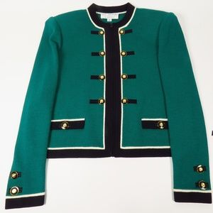 ST. JOHN COLLECTION FRONT ZIP JACKET